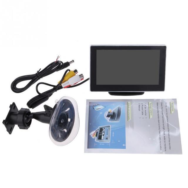 """3 W DC12V 4.3 """" polegadas magro Dual NTSC / PAL LCD Car dispositivo de exibição para DVD VCD vídeo"""