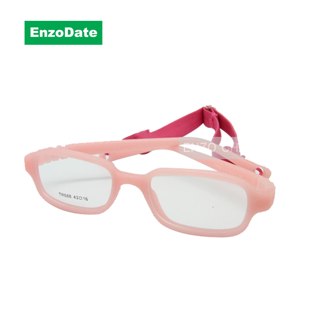 c608022b4b Boy Glasses Frame with Strap Size 43 16 One piece No Screw Safe ...