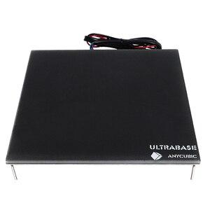 Image 1 - Anycubic Ultrabase 3D yazıcı platformu isıtmalı yatak inşa yüzey cam plaka 240x220x6mm ile uyumlu MK2 MK3 sıcak yatak