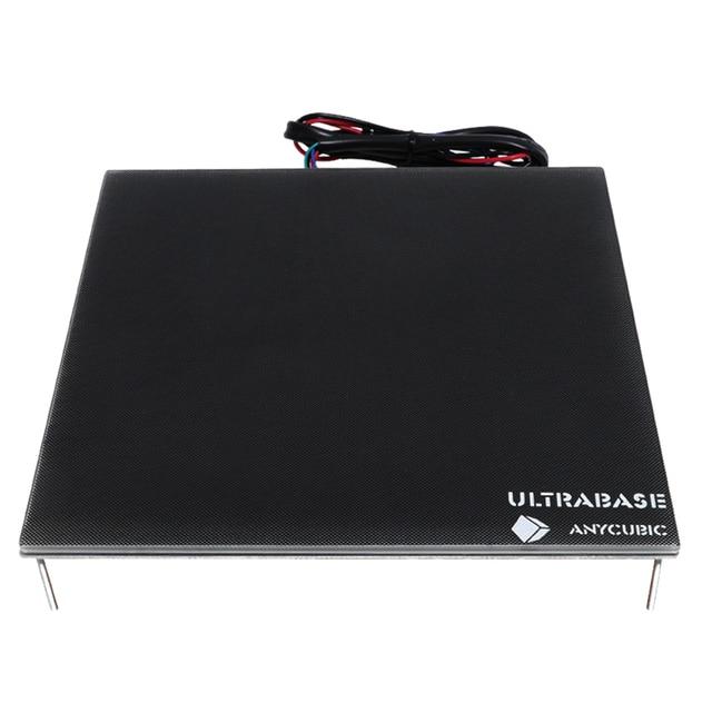 Anycubic Ultrabase 3D yazıcı platformu isıtmalı yatak inşa yüzey cam plaka 240x220x6mm ile uyumlu MK2 MK3 sıcak yatak