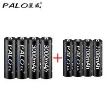 Baterias plus 1100 Recarregável com Caixa de Presente Palo 4 PCS 1.2 V 3000 MAH AA AAA Ni-mh Aa e aaa 3A Bateria