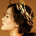 De Estilo barroco de La Vendimia Hojas de Oro Celada de Novia Tiara de La Corona Hairbands Pelo de La Boda Accesorios Nupciales de La Joyería Z0889