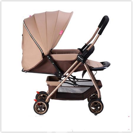 Cochecito ultra ligero de aleación de aluminio plegable de la silla de paseo puede sentarse mentira de dos vías del coche bb suspensión