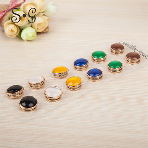 Image 1 - 12pc Classic Round Magnet Brooches Unisex Scarf Jewelry Acessories Muslim Headscarf Buckle Women Hijab Jewelry Opal Brooches