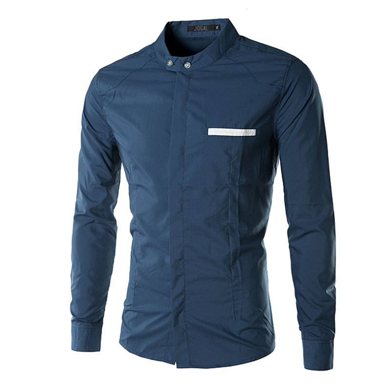 Aliexpress.com : Buy New Royal Blue Men Shirt Long Sleeve 2016 ...