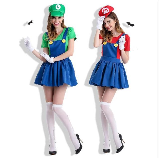 Newest Deluxe Adult Princess Peach Costume Women Super Mario