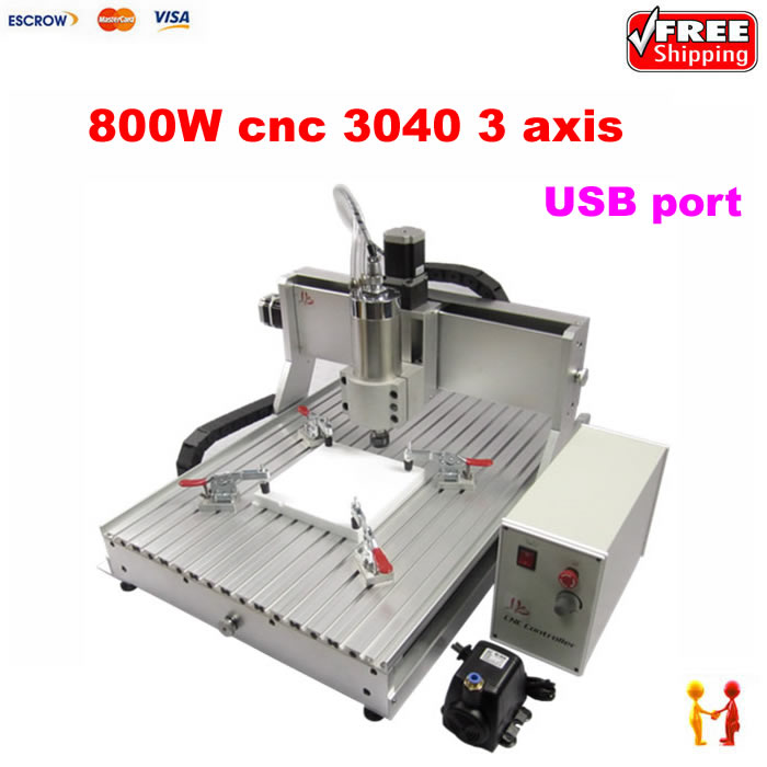 Mini CNC 3040 800w Engraver USB For Metal Marking Milling Carving Cutting Machine router portable mini aluminum cnc router akg6090 cnc metal carving and cutting machine for advertising signs industry