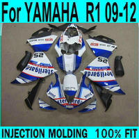 Best Fairings For YAMAHA R1 2009 2012 ( sticker customize ) Injection Fairing kit free shipping ll37