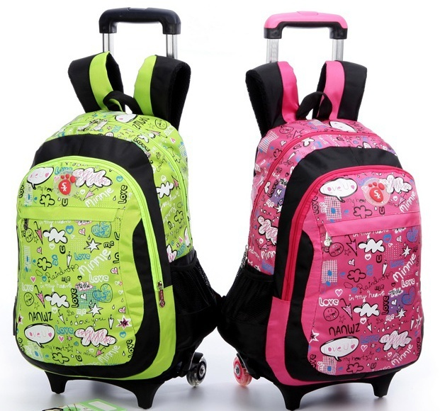 Grade3 6 Children Trolley School Bags Lovely Rolling Mochilas ...
