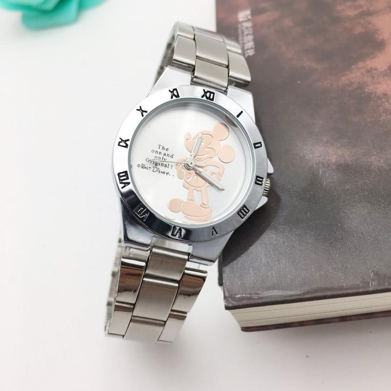 Креативные 3D женские часы с мышкой из нержавеющей стали, серебряные Модные женские кварцевые часы, женские минималистичные женские часы в подарок