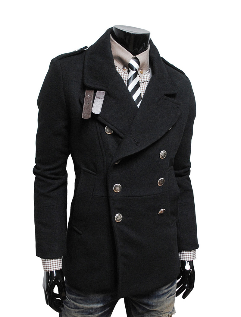 Trench Coat jacket Men 2015 Spring New Fashion Parkas Mens Pea ...