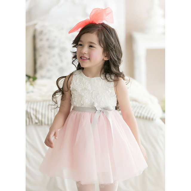 Chiffon Flower Summer Girls Dress for Party And Wedding Kids ...