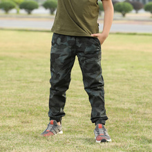 все цены на Brand Summer Fashion Cotton Pants Boys Clothes Outdoor Miltary Blue Camo Children's Cargo Pants Overalls Long Trousers For Boy онлайн