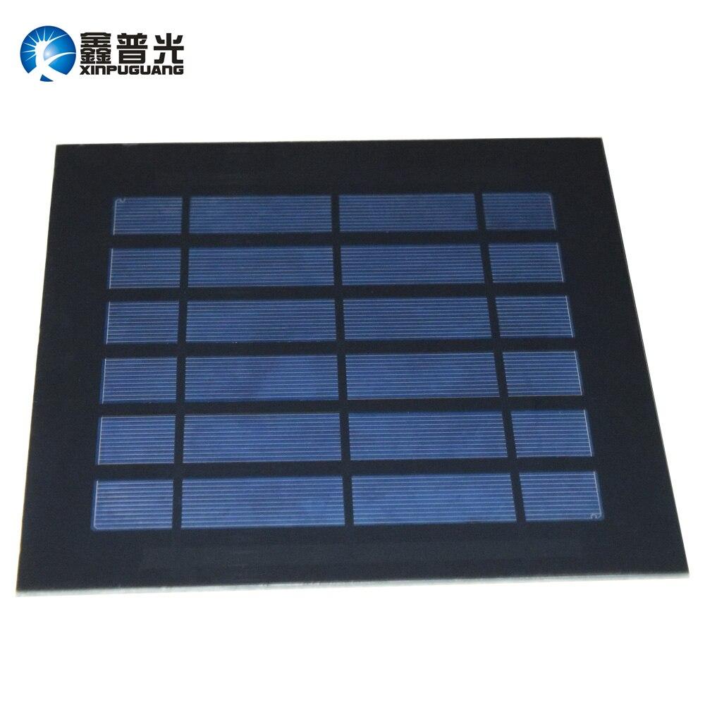 Xinpuguang 2.5W 3V PET solar panel Polycrystalline portable silicon cell module terminal motor toy car Mini water pump DIY kit