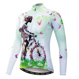 Image 3 - 2020 Ciclismo Jersey mtb Bici Jersey Shirt Maglia A Manica Lunga Vestiti di Riciclaggio Della Bicicletta Vestiti Ropa Maillot Ciclismo Anti Uv Rosa