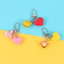 Cute Cartoon Doll Keychain Girls Key Chain Toy Animal Keychain Women Bells Key Ring Trinkets Car Purse Key Chains Gift цены онлайн