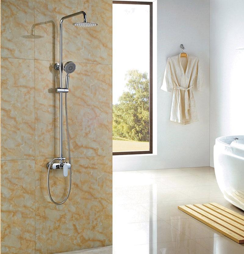 Luxury 8 in Rainfall Shower Set Bathroom Tub Shower Units Single ...