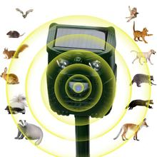 Waterproof Outdoor Owl Shape Solar Ultrasonic Dispeller for Bird Hare Fox Cat Dog