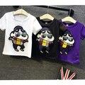 Freeshipping новый дети футболки Одежда мужской женский ребенок Футболка мультфильм с коротким рукавом основной 2016 лето футболки детские одежда