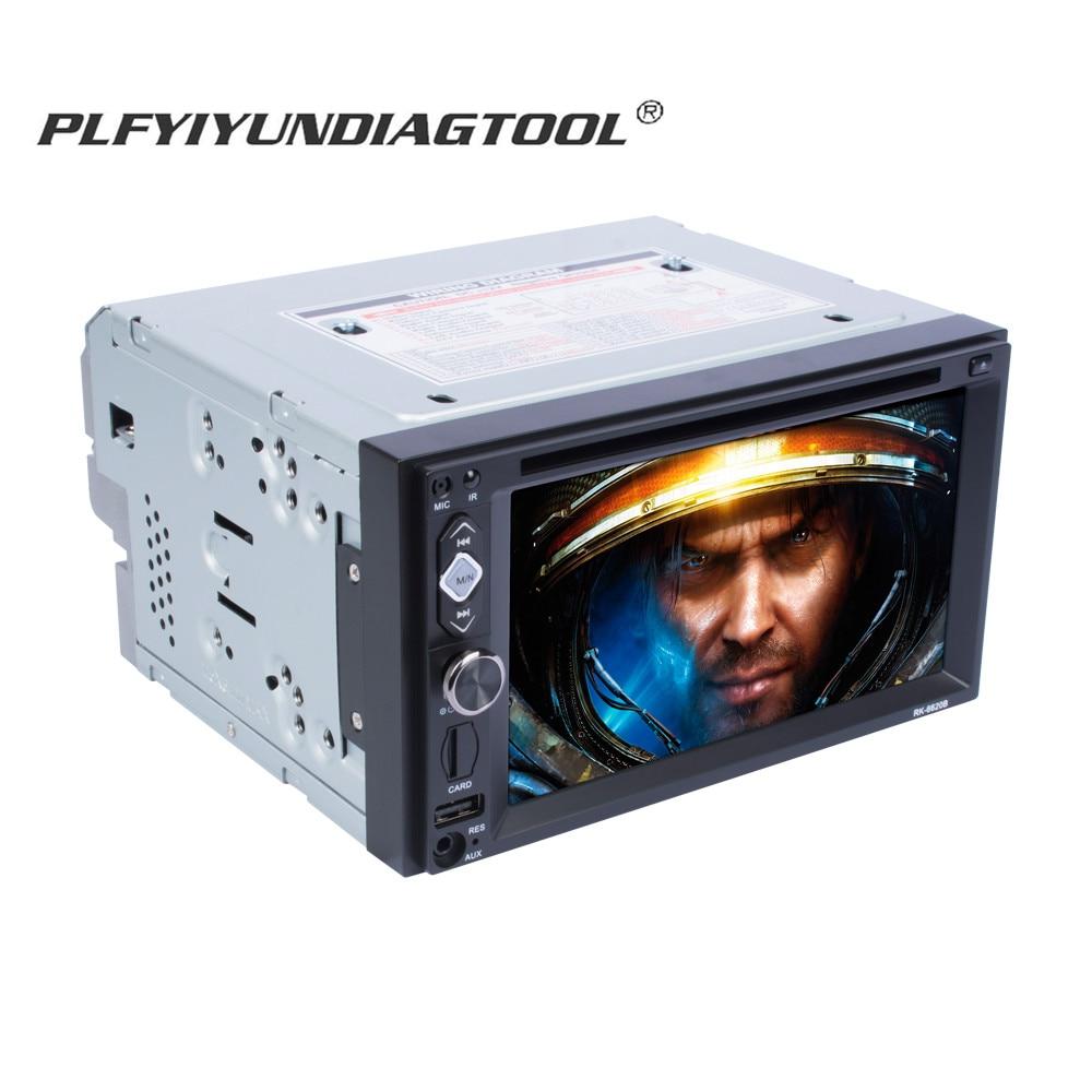 Lecteur DVD vidéo de voiture 2 din 6.2 pouces lecteur mp4 multimidia automotivo stéréo caméra de recul Radio mp5 CD auto bluetooth usb