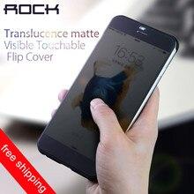 Rock Original Flip case for iPhone 7 Dr.V Series Smart Transparent View Window Case for Apple iphone 7 Plus back uniquely design