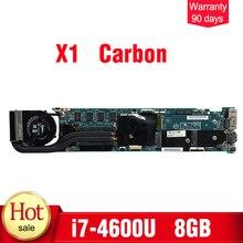 48.4LY06.021 для lenovo thinkpad X1 углерода материнской i7-4600U 8 GB Оперативная память 48.4LY06.021 00UP983 плата 100% тестирование нетронутыми