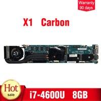 For Lenovo Thinkpad X1 Carbon Laptop Motherboard i7 4600U 8GB RAM 48.4LY06.021 mainboard
