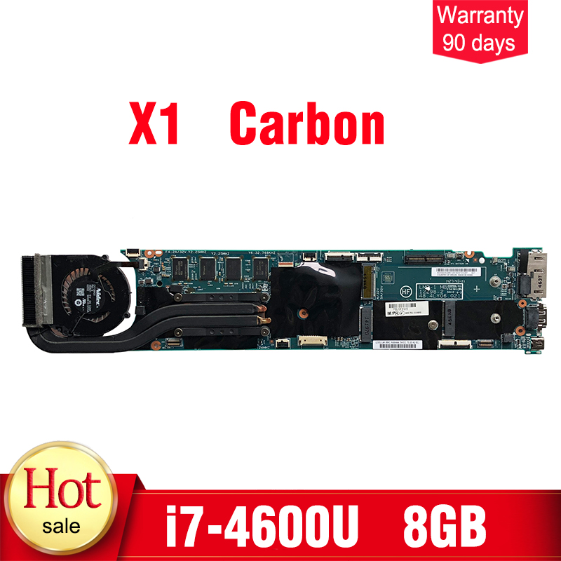 Pour Lenovo thinkpad X1 carbone Carte Mère i7-4600U 8 gb RAM 48.4LY06.021 carte mère