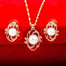 hOT Jewelry Sets For Women Fine Accessories Wedding Bridal Pendant Statement Necklace Earrings(China)