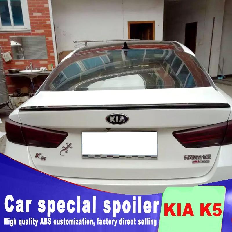 K5 2016 2017 2018 New design high quality ABS material for KIA Optima  K5 spoiler primer paint rear trunk roof rear spoilerK5 2016 2017 2018 New design high quality ABS material for KIA Optima  K5 spoiler primer paint rear trunk roof rear spoiler