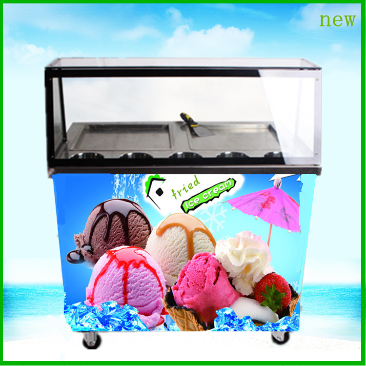 Hot sale free ship CE tava dondurma makinesi frozen juice machine R410 flat pan fried ice cream R404 freezing yoghourt machine