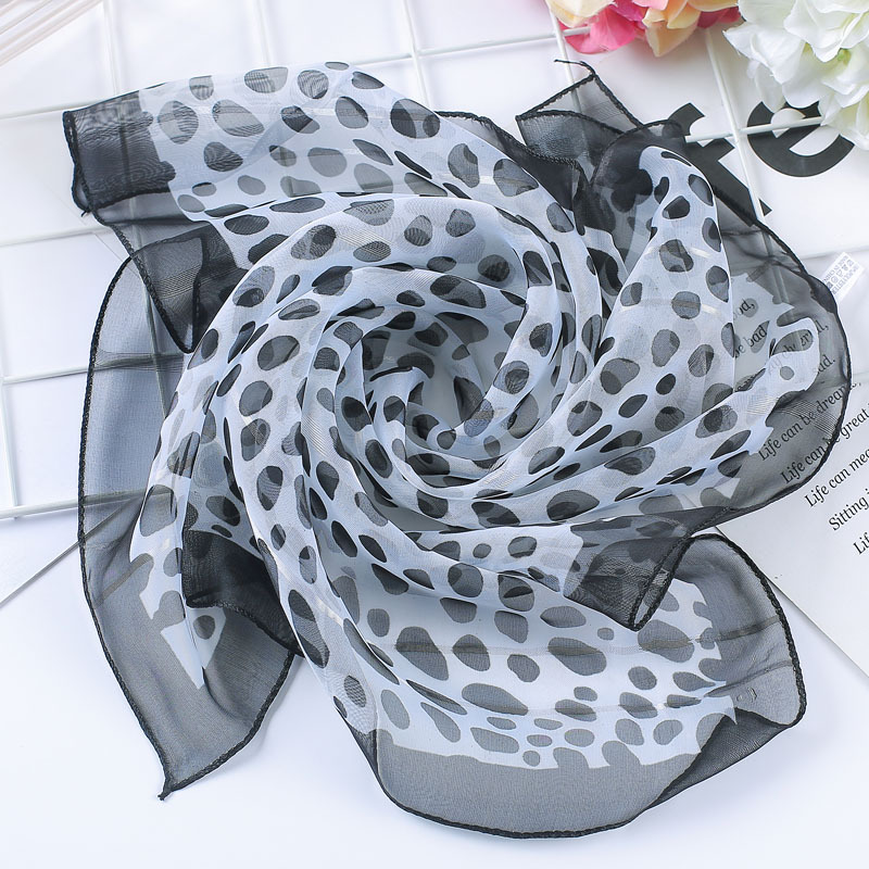 Spring-summer Hot  Women Silk Scarf Square Lady Wrap Small Office Neck Head Scarf Hair Scarf Foulard 50*50cm Skinny Scarfs