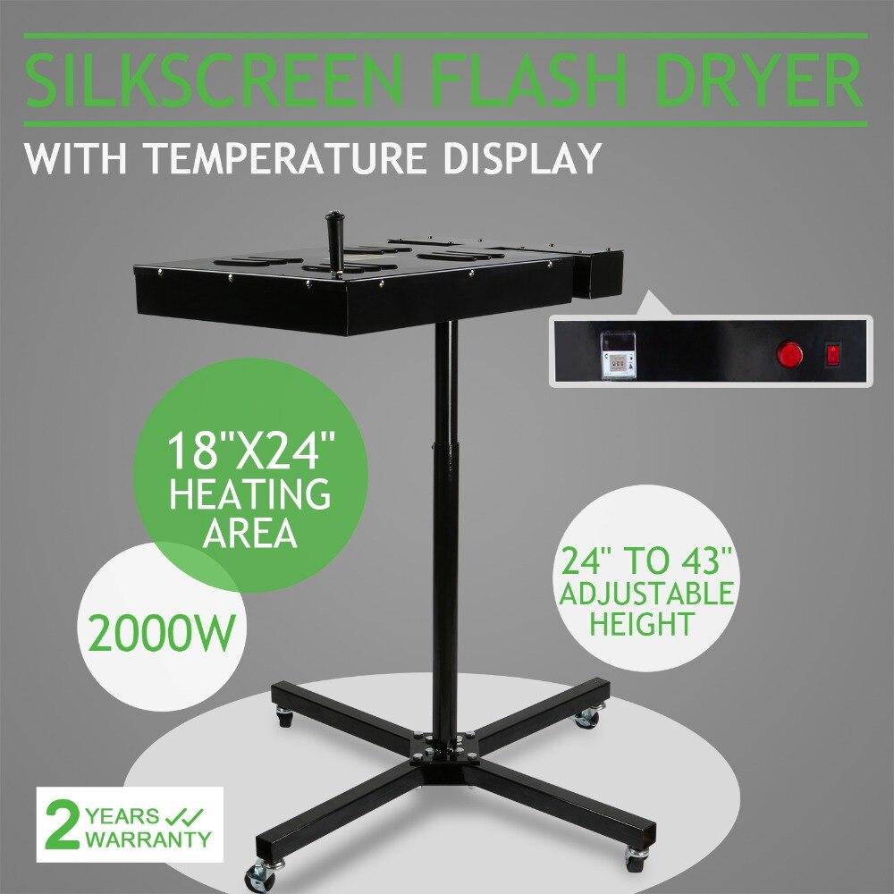 "18/"" X 18/"" Flash Dryer Silk Screen Printing Equipment T-Shirt Curing Heating US"