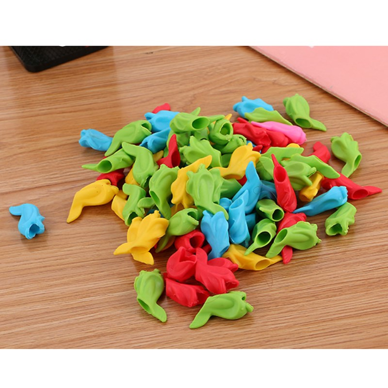 2018 New 10 Pcs Creative Children Pencil Holder Correction Hold Pen Writing Grip Posture Tool Fish(China)