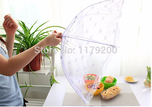 Food-Covers-Umbrella-Style-Anti-Fly-Mosquito-Kitchen-cooking-Tools-meal-cover-Hexagon-gauze-table-mesh (2)