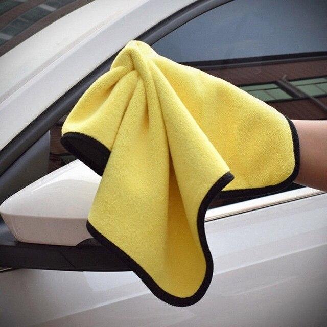 2019 ขนาด 30*30CMผ้าเช็ดตัวไมโครไฟเบอร์ทำความสะอาดผ้าHemming Car Careผ้ารายละเอียดรถผ้าขนหนูสำหรับToyota
