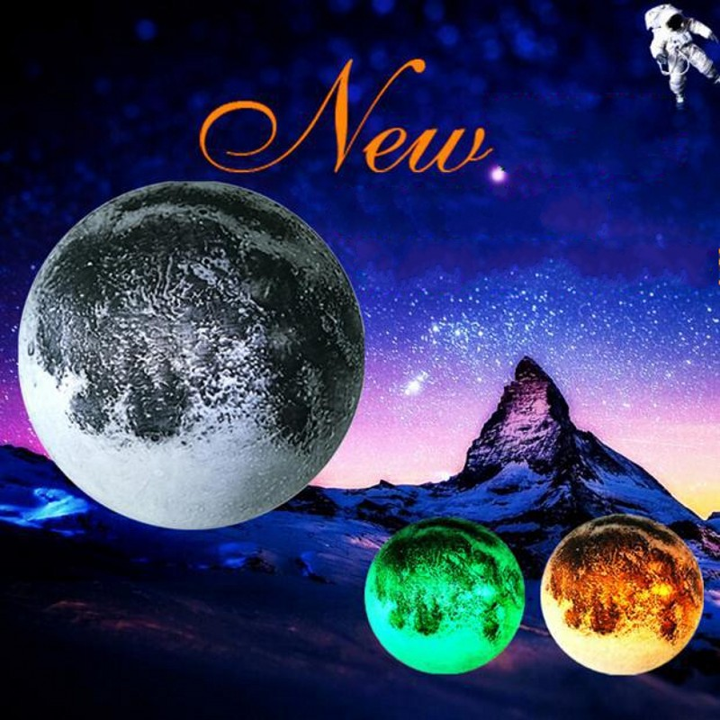 FENGLAIYI Remote Control Wall-mounted Moon Lamp Children's Bedroom Lamp Home Decoration LED Tri-color Night Light Kid Gift keyshare dual bulb night vision led light kit for remote control drones