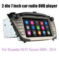 Автомобильный dvd плеер для hyundai IX35 Tucson 2009 до 2014 gps Android 6,0 четырехъядерный 2 Din рулевое колесо управления радио