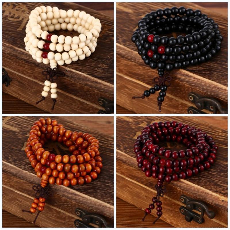pulseras-108-beads-8mm-Natural-Sandalwood-Buddhist-Buddha-Wood-Prayer-Bead-Mala-Unisex-Men-bracelets-bangles