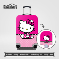 Elastic Stretch Suitcase Cover For Children Cartoon Hello Kitty Print Women Travel Luggage Protective Cover For