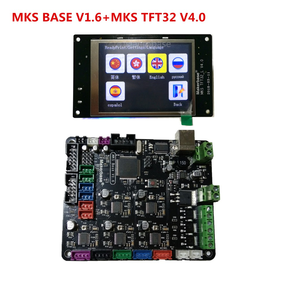 3d printer starter kit mother board MKS BASE + MKS TFT32 V4.0 touch screen all in one controller imprimante Reprap control panel original artery summa all in one starter kit