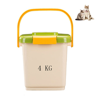 Petacc Plastic Pet Food Container Sealed Pet Food Bin Moistureproof Dog Food Storage Can with a Free Scoop