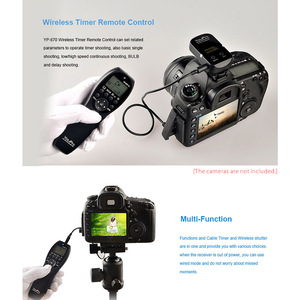Image 3 - YouPro YP 870 II L1 2.4G 32 قنوات اللاسلكية التحكم عن بعد LCD الموقت مصراع الإفراج الارسال استقبال للكاميرا
