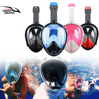 KEEP DIVING Underwater Full Face Snorkeling Mask Swimming Training Scuba Diving Mask Snorkel Set Anti Fog