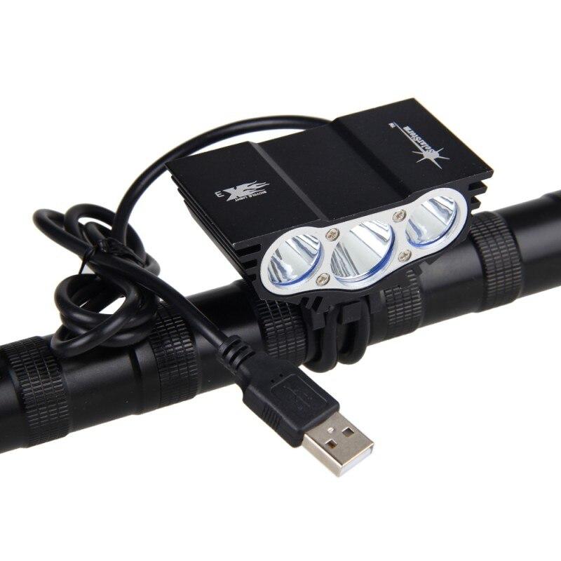USB Ciclismo Luzes LED 3XT6 10000LM LEVOU Faróis de Bicicleta XM-L LED Bike Light com 6400mAh Battery Pack + Charger