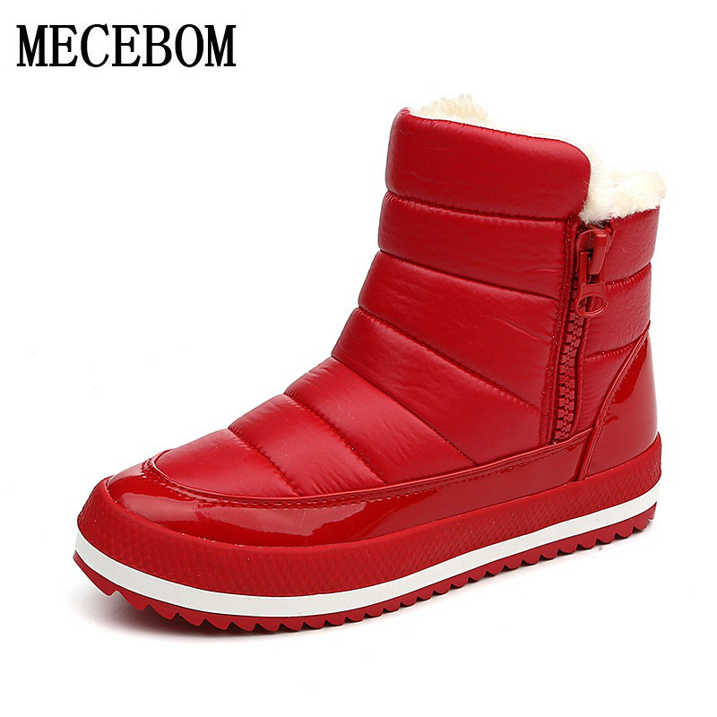 2017 women snow  winter warm thick bottom platform waterproof fur cotton shoes ankle boots for women super big size 35-40 0159W
