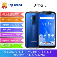 Android 8,1 4 GB 64 GB телефон Беспроводной зарядки Face ID Водонепроницаемый IP68 NFC 5,85 HD Мобильный телефон Otca core Ulefone Броня 5 5000 mAh