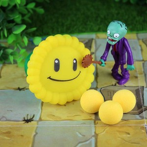 [New] PVZ Plants vs Zombies Peashooter PVC Action anime Figure Model Toy Gifts Toys For Children High Quality launch plants(China)