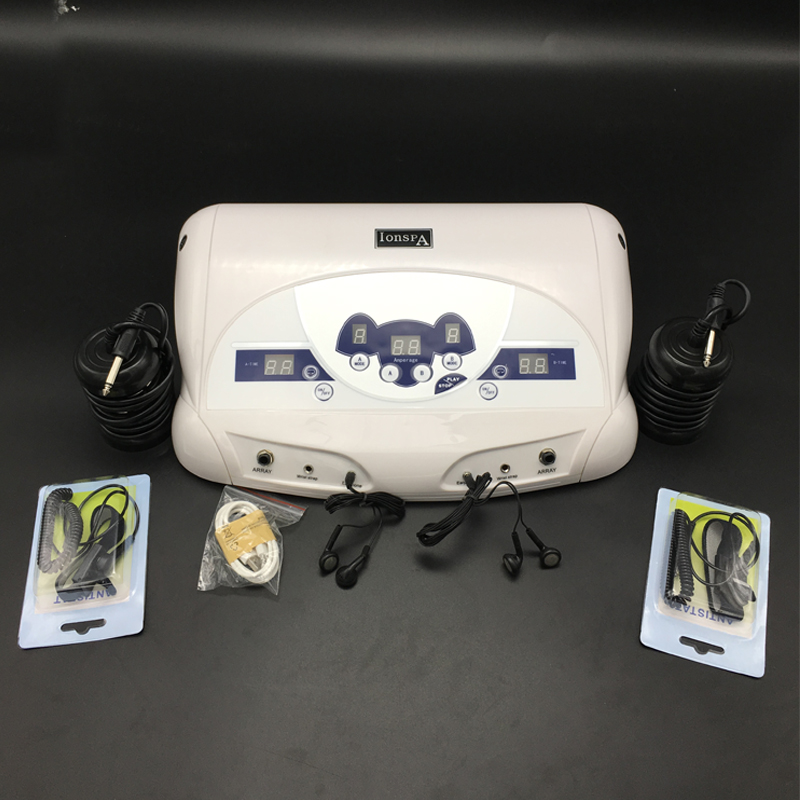 Cell spa detox machine with MP3 function the highest dual detox cell spa machine