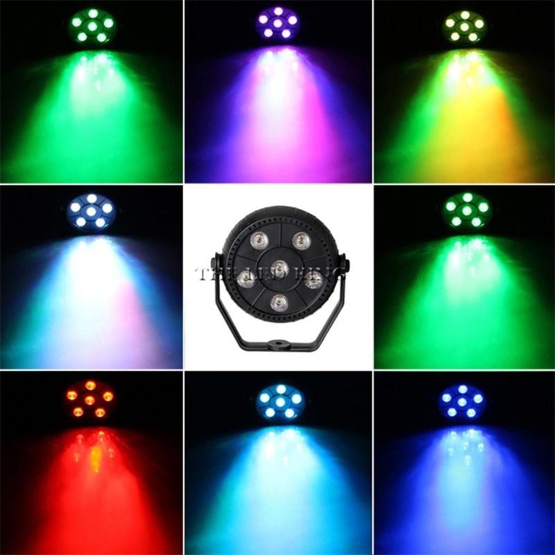 Mini 18W Dj Laser Disco Ball Stage Light 6 Led Rgb Wash Effect Portable Stage Par Light Auto Sound Activation Indoor Disco Lamp